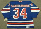 JOHN VANBIESBROUCK New York Rangers 1985 CCM Vintage Throwback NHL Hockey Jersey