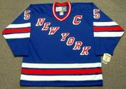 BARRY BECK New York Rangers 1983 CCM Vintage Away NHL Hockey Jersey