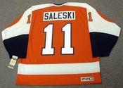 DON SALESKI Philadelphia Flyers 1974 CCM Vintage Throwback Away NHL Hockey Jersey