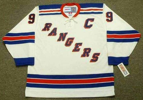 ANDY BATHGATE New York Rangers 1960's Away CCM Throwback NHL Hockey Jersey - FRONT