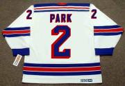 BRAD PARK New York Rangers 1972 Home CCM Throwback NHL Hockey Jersey - BACK