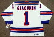 EDDIE GIACOMIN New York Rangers 1972 Home CCM Throwback NHL Hockey Jersey - BACK