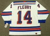 THEOREN FLEURY New York Rangers 2001 CCM Throwback Home NHL Jersey