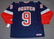 1998 New York Rangers Alternate CCM Throwback ADAM GRAVES Retro hockey jersey - BACK