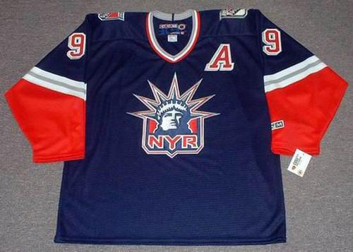1998 New York Rangers Alternate CCM Throwback ADAM GRAVES Retro hockey jersey - FRONT