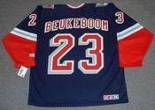 JEFF BEUKEBOOM New York Rangers 1998 CCM Throwback Alternate NHL Jersey