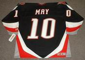 BRAD MAY 1997 Away CCM Vintage NHL Buffalo Sabres Retro Jersey - BACK