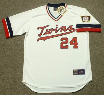 dfb20e54 TOM BRUNANSKY Minnesota Twins 1984 Majestic Cooperstown Throwback Home  Jersey - Custom Throwback Jerseys