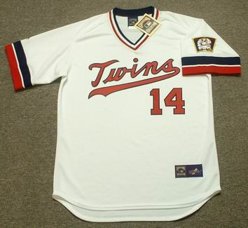 KENT HRBEK Minnesota Twins 1984 Majestic Cooperstown Throwback Home Jersey - Front