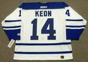 DAVE KEON Toronto Maple Leafs 1965 CCM Throwback NHL Hockey Jersey - BACK