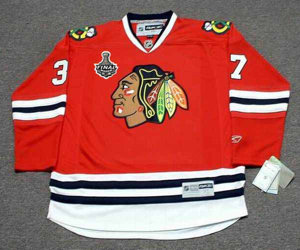 san francisco 985b4 0e644 ADAM BURISH Chicago Blackhawks 2010 REEBOK Premier Throwback NHL Hockey  Jersey