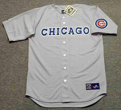 CHICAGO CUBS 1990's Away Majestic Cooperstown Baseball Throwback Jersey - FRONT