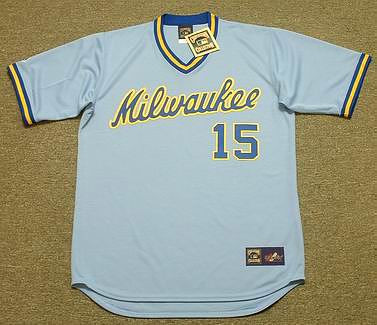 Cecil Cooper 1982 Milwaukee Brewers Cooperstown Retro Away MLB Throwback Baseball Jerseys - FRONT