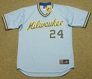 Ben Oglivie 1982 Milwaukee Brewers Cooperstown Away MLB Throwback Baseball Jerseys - FRONT