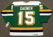DAVE GAGNER Mn North Stars Jersey 1989 CCM Vintage Throwback NHL - BACK