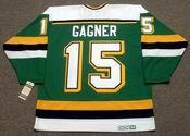 DAVE GAGNER Mn North Stars Jersey 1989 CCM Vintage Throwback NHL - BACK