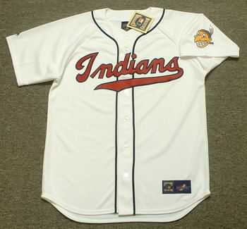 online store c42f9 53281 CLEVELAND INDIANS 1940's Majestic Cooperstown Throwback Baseball Jersey