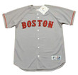 BOSTON RED SOX 1990's Away Majestic Throwback Personalized MLB Jerseys - FRONT