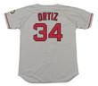 DAVID ORTIZ Boston Red Sox 2004 Majestic Throwback Away Baseball Jersey - Back