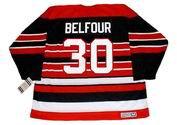 ED BELFOUR Chicago Blackhawks 1992 CCM Vintage Throwback NHL Hockey Jersey - BACK