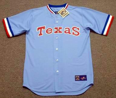 daadcd0f7 TEXAS RANGERS 1980 s Majestic Cooperstown Throwback Baseball Jersey - Custom  Throwback Jerseys