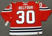 ED BELFOUR Chicago Blackhawks 1994 CCM Throwback Away NHL Hockey Jersey