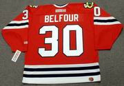 ED BELFOUR Chicago Blackhawks 1994 CCM Throwback Away NHL Hockey Jersey - Thumbnail