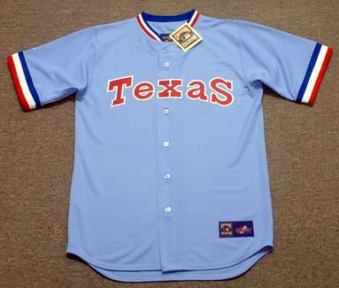 sports shoes 886ed 4ecbc BUDDY BELL Texas Rangers 1981 Majestic Cooperstown Throwback Baseball Jersey