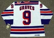 1994 New York Rangers Home CCM Throwback ADAM GRAVES Retro hockey jersey - Back