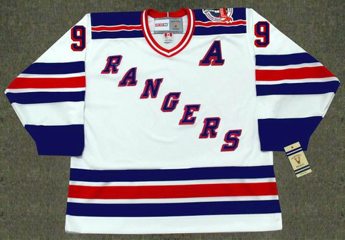 1994 New York Rangers Home CCM Throwback ADAM GRAVES Retro hockey jersey - FRONT