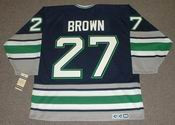 JEFF BROWN Hartford Whalers 1995 CCM Vintage Throwback NHL Jersey