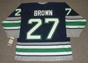 JEFF BROWN Hartford Whalers 1995 CCM Vintage Throwback NHL Jersey