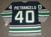 FRANK PIETRANGELO 1992 CCM Hartford Whalers Hockey Jersey - BACK