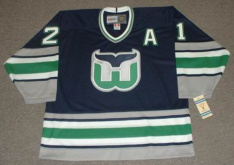 ANDREW CASSELS 1995 Away CCM Hartford Whalers Hockey Jersey - FRONT