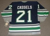 ANDREW CASSELS 1995 CCM Hartford Whalers Hockey Jersey - BACK