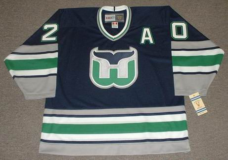 GLEN WESLEY 1995 Away CCM Hartford Whalers Hockey Jersey - FRONT