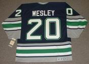 GLEN WESLEY 1995 Away CCM Hartford Whalers Hockey Jersey - BACK