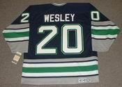 GLEN WESLEY 1995 Away CCM Hartford Whalers Hockey Jersey - BACK