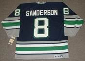 GEOFF SANDERSON 1993 Away CCM Hartford Whalers Hockey Jersey - BACK