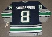 GEOFF SANDERSON 1993 Away CCM Hartford Whalers Hockey Jersey - BACK