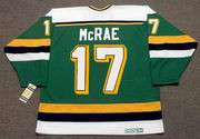 BASIL McRAE Minnesota North Stars 1989 Away CCM NHL Vintage Throwback Jersey