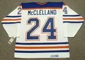 KEVIN McCLELLAND Edmonton Oilers 1987 CCM Vintage Throwback Home NHL Jersey