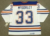 MARTY McSORLEY Edmonton Oilers 1987 CCM Vintage Throwback Home NHL Jersey