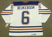 JEFF BEUKEBOOM Edmonton Oilers 1987 CCM Vintage Throwback Home NHL Jersey