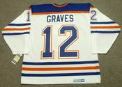 1990 Edmonton Oilers Home CCM Throwback ADAM GRAVES Retro hockey jersey - BACK