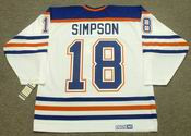 CRAIG SIMPSON Edmonton Oilers 1990 CCM Vintage Throwback Home NHL Jersey