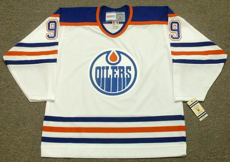 GLENN ANDERSON Edmonton Oilers 1987 Home CCM NHL Vintage Throwback Jersey - FRONT