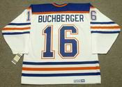 KELLY BUCHBERGER Edmonton Oilers 1990 CCM Vintage Throwback Home NHL Jersey