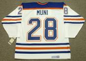 CRAIG MUNI Edmonton Oilers 1990 CCM Vintage Throwback Home NHL Jersey