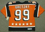 "WAYNE GRETZKY 1984 Campbell ""All Star"" CCM Vintage Throwback NHL Hockey Jersey - BACK"